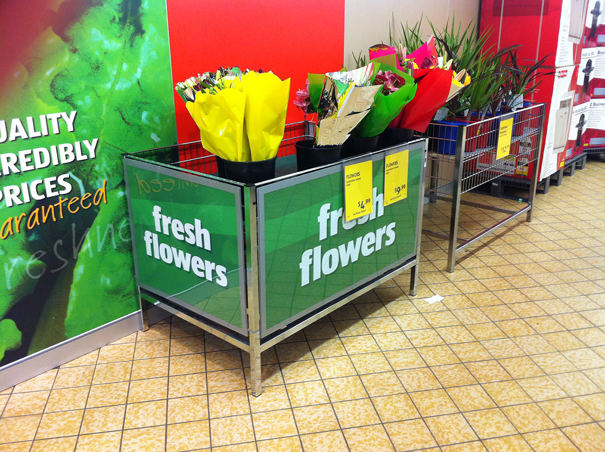 Flowers - A promotional graphic holder for Aldi