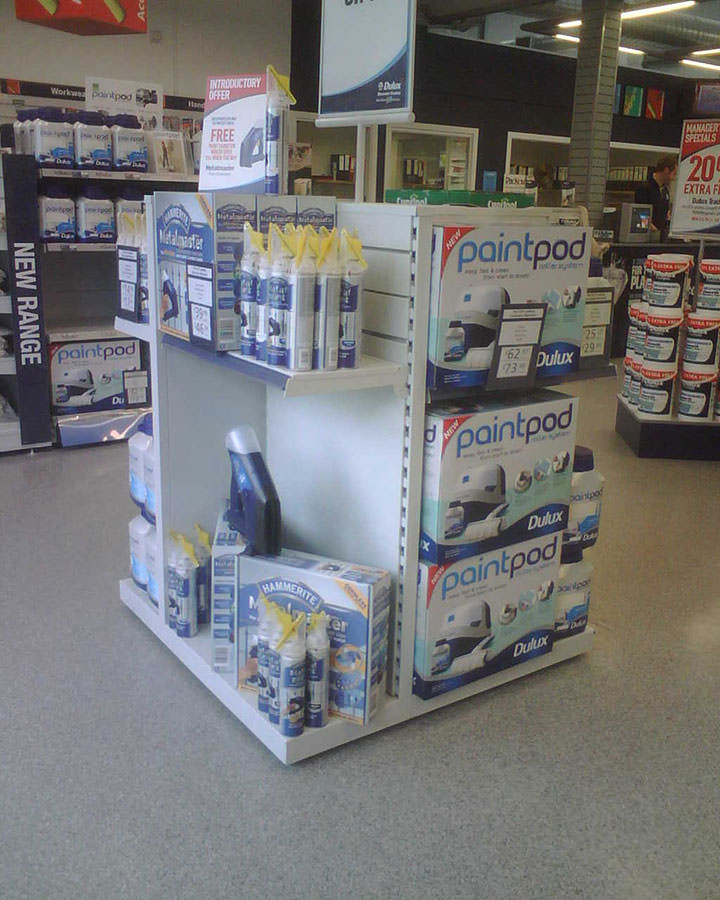 Dulux Decorating Centres - A walk around promotional paint display