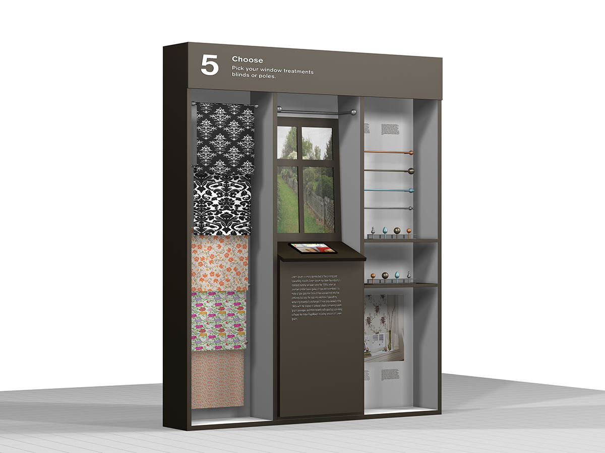 Homebase - An interactive window treatment display for the new concept stores